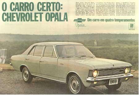 OPALA – A 1ª propaganda aparecendo o veículo